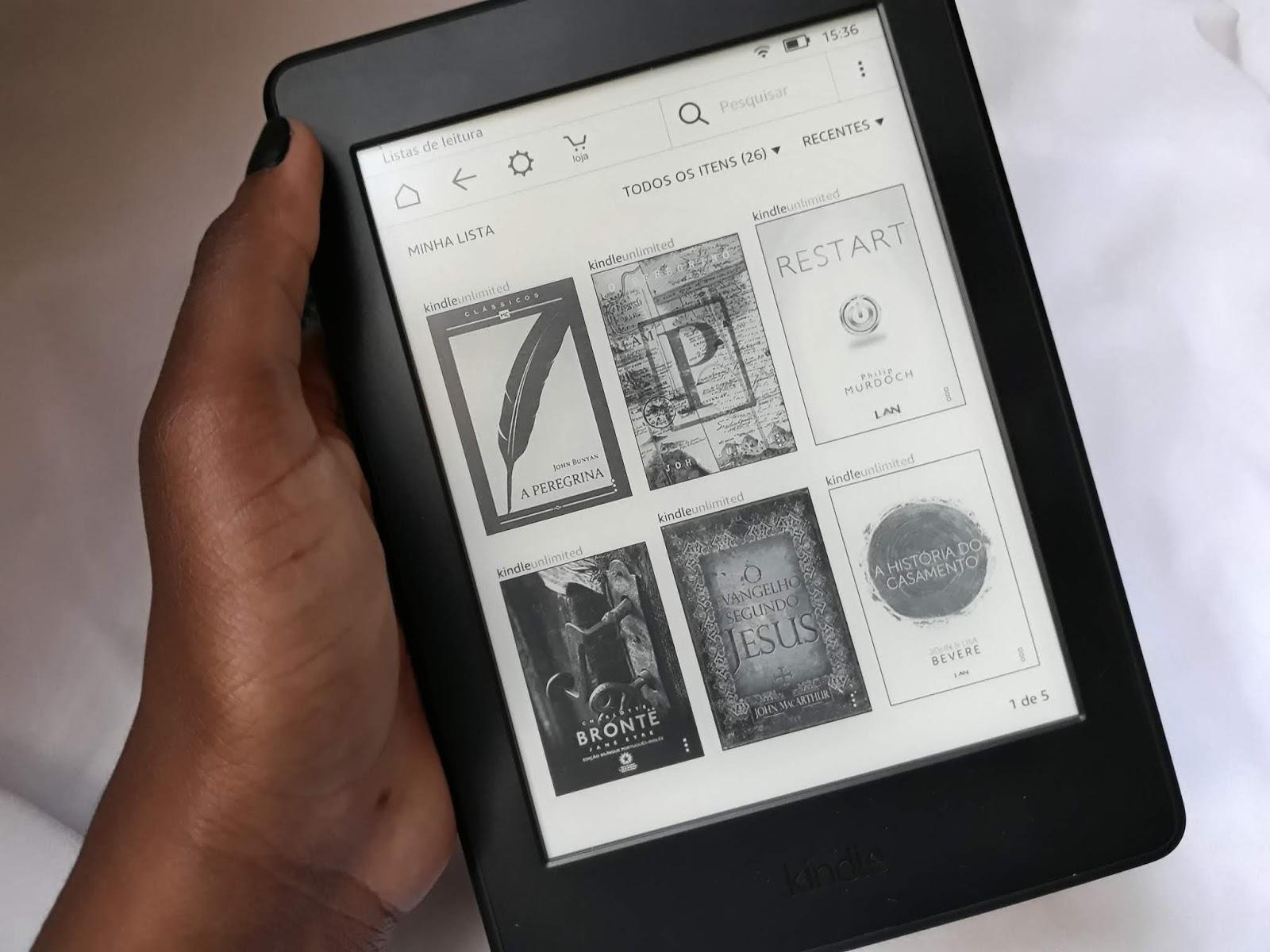 O que achei do Kindle Paperwhite blog priscila frr