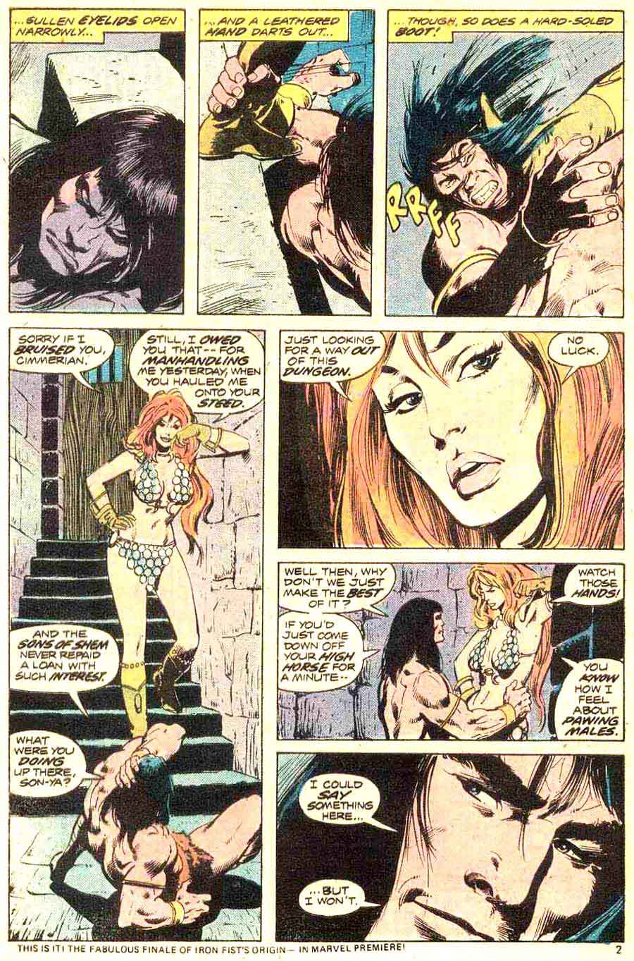 Conan the Barbarian v1 #44 marvel comic book page art by Neal Adams