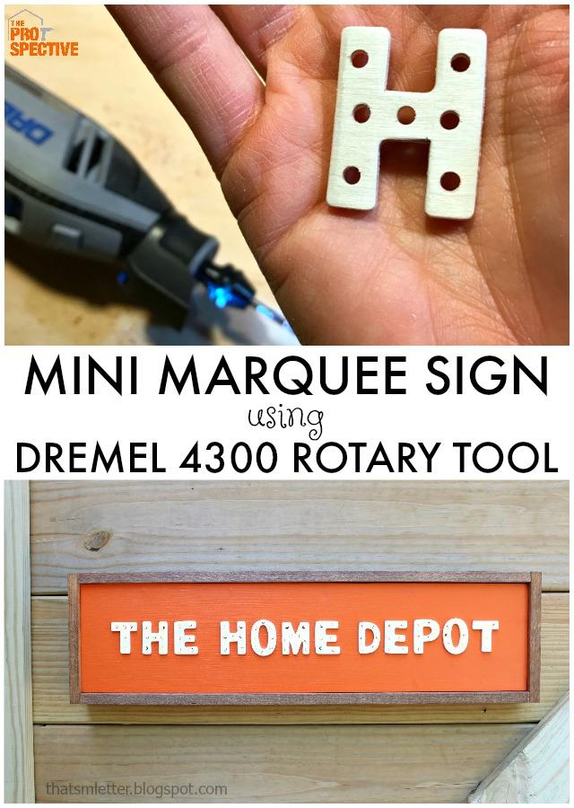 diy mini marquee sign using dremel 4300
