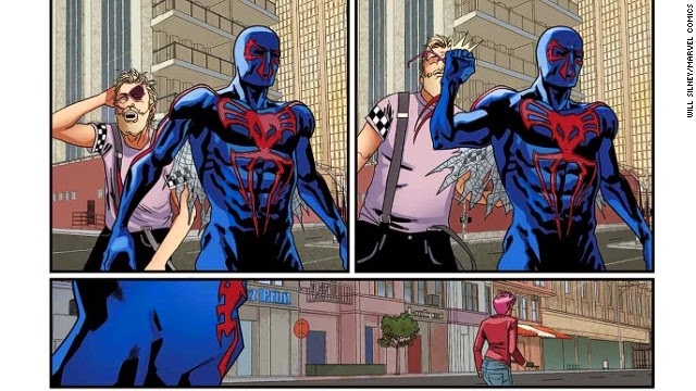 spiderman 2099 pages interior art 1
