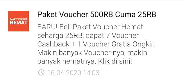 Paket Voucher Hemat Shopee