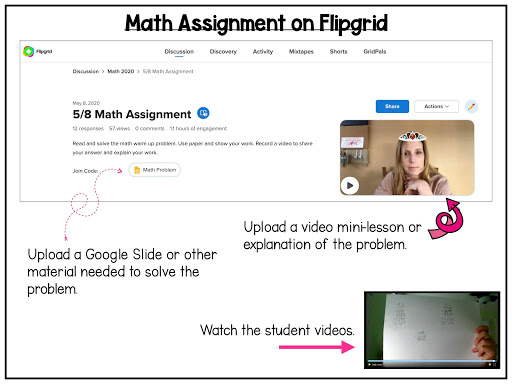 Picture of Flipgrid video assignment