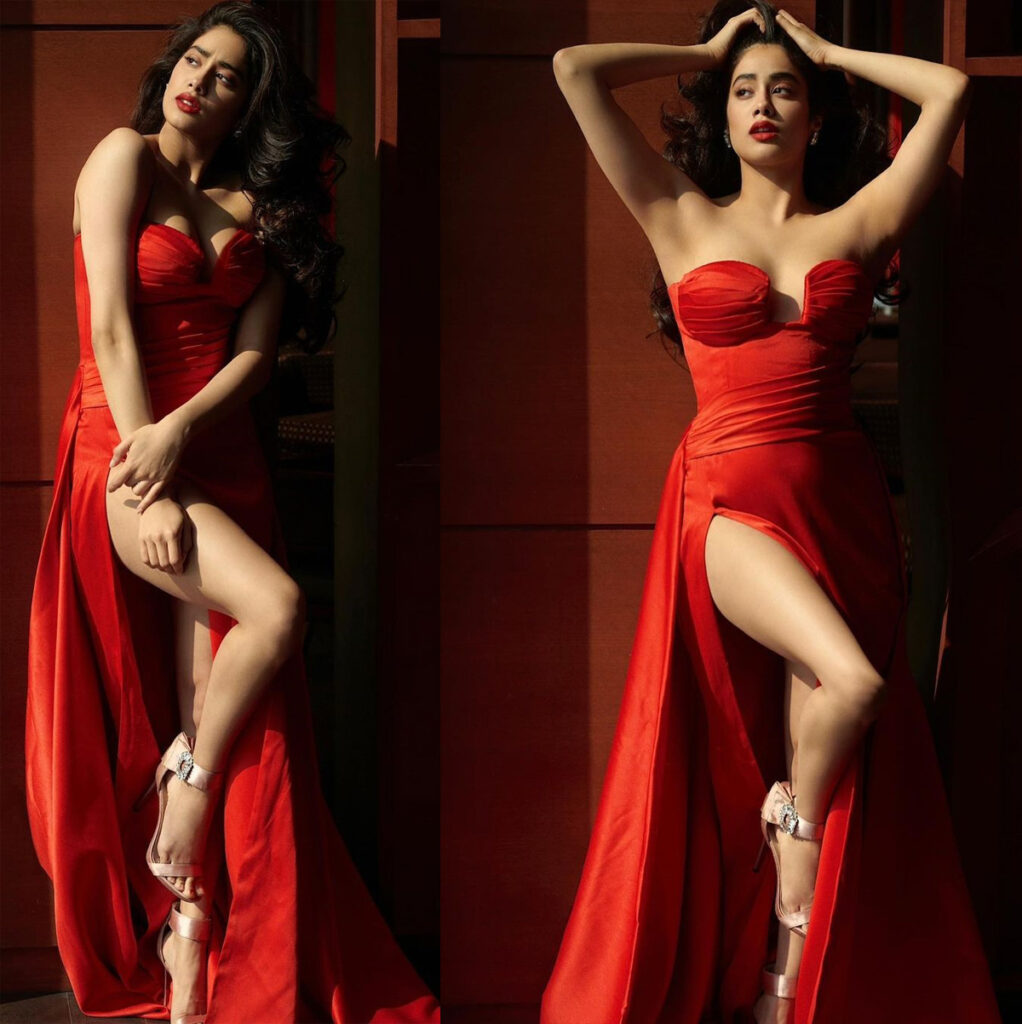 Pic Talk of the day: Janhvi Kapoor In Hot Cherry Red Dress