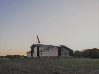 Siouxland Freedom Park interpretive center at sunset