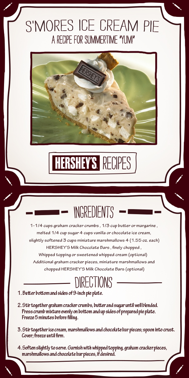 Dying for Chocolate: S'mores Ice Cream Pie