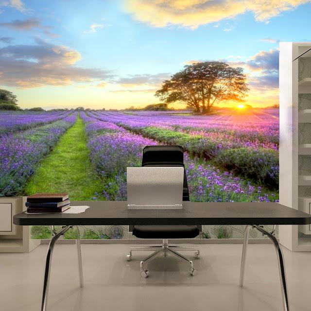 Nature Wall Murals Landscape Lavender
