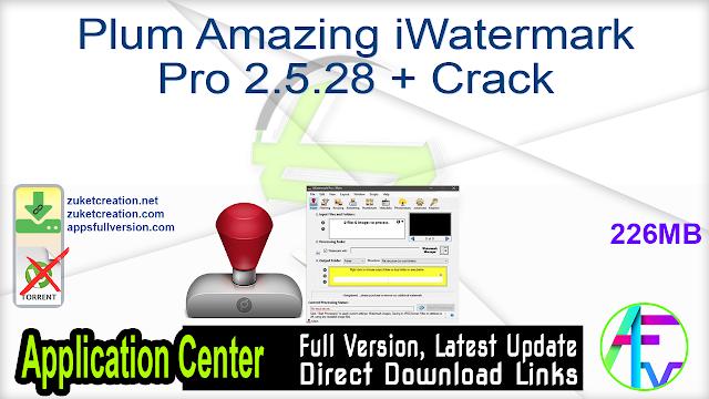 Plum Amazing iWatermark Pro 2.5.28 + Crack