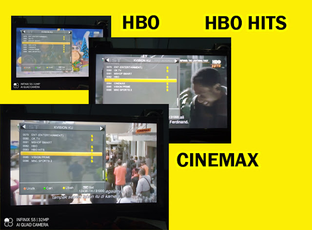 3 Channel Gratis K-Vision HBO HBO Hits dan Cinemax Ku-Band