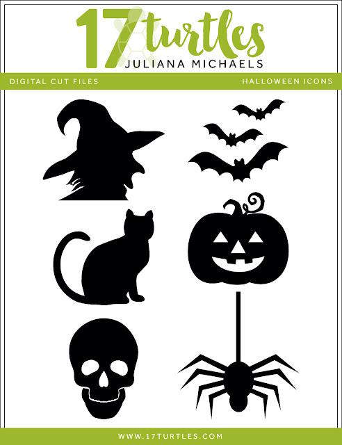 Halloween Icons Free Digital Cut File by Juliana Michaels 17turtles