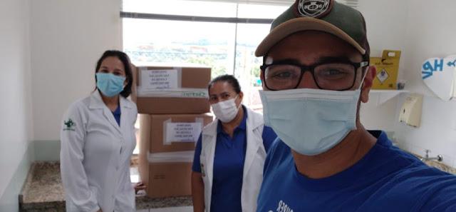 Secretaria de Saúde de Iretama recebe caixas com os insumos para o início da vacinação contra a Covid-19