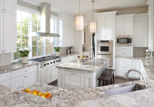 Bianco Crystal Granite Countertops