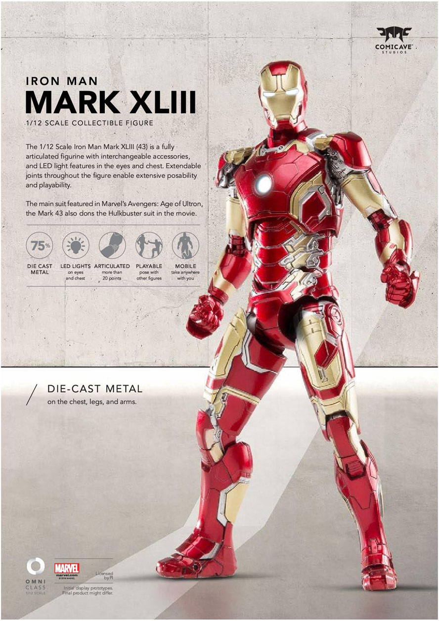 1/12 Scale Iron Man Mark 43 by Comicave Studios ...