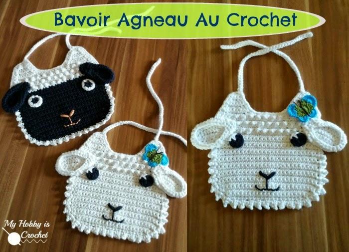 My Hobby Is Crochet Bavoir Agneau Au Crochet Patron Gratuit