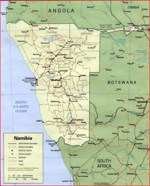 image: Namibia political map