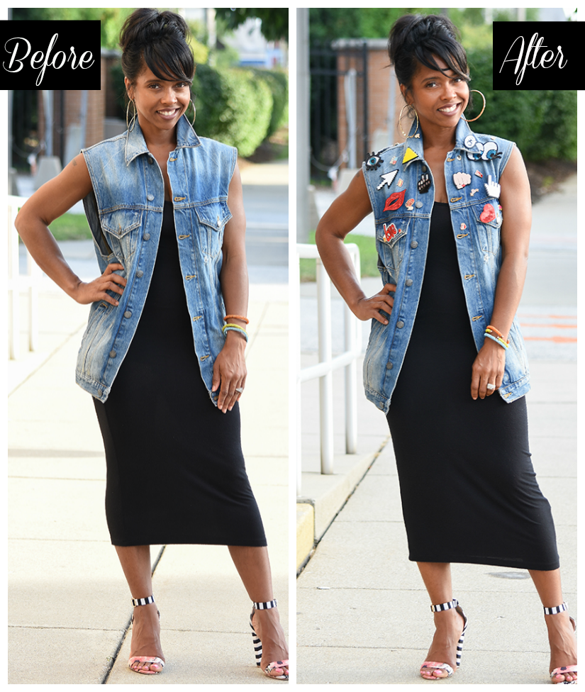 a9bee2000303 Dress  Forever 21 HERE   Denim Vest  Zara (Sold Out) Similar HERE    Sandals  JustFab Sold Out
