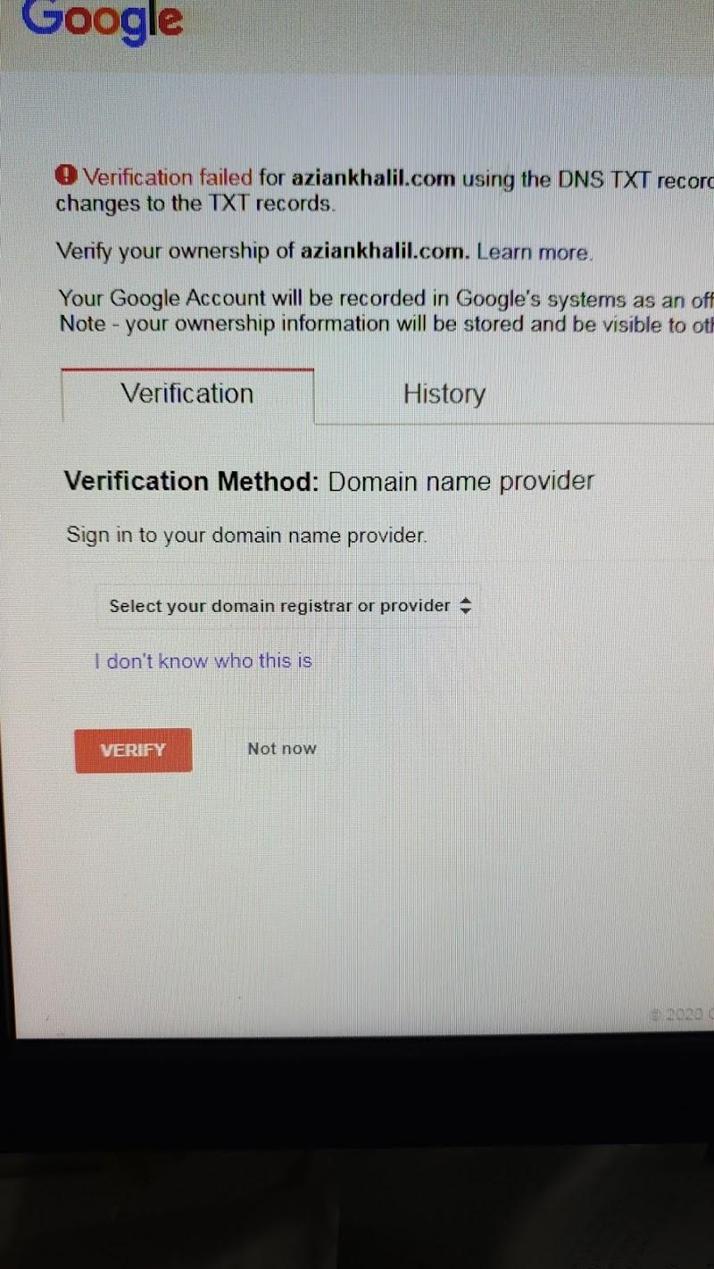 Masalah domain selesai