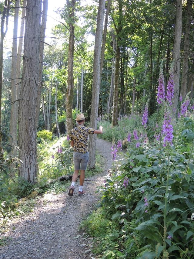 Jimi Blake führt durchs Valley in Hunting Brook Gardens
