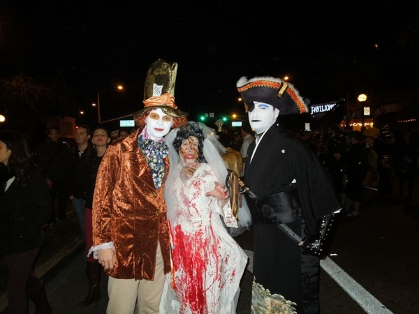 Mad Hatter Zombie bride costumes West Hollywood Halloween