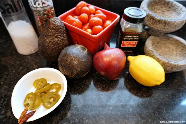 Ingredientes para el Guacamole
