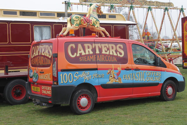 Carters Steam Fair advertisement van.