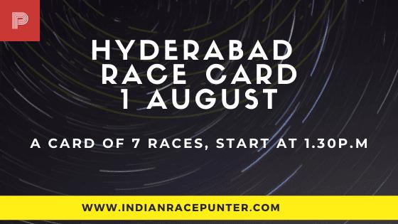 Hyderabad Race Card 1 August