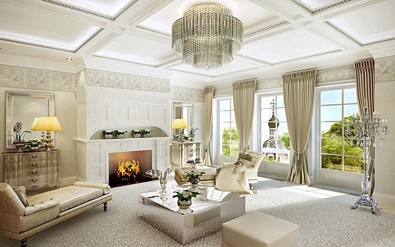 Phòng khách cổ điển biểu tượng của sự sang trọng và đẳng cấp 2