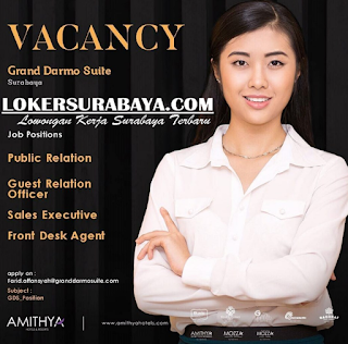 Job Vacancy at Grand Darmo Suite (Amithya Hotels & Resort) Surabaya May 2019