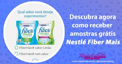 Descubra agora como conseguir amostra grátis Nestle Fiber Mais