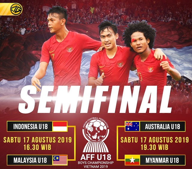 Jadwal Semifinal Piala AFF U-18 Indonesia Vs Malaysia - IGayogoal_id