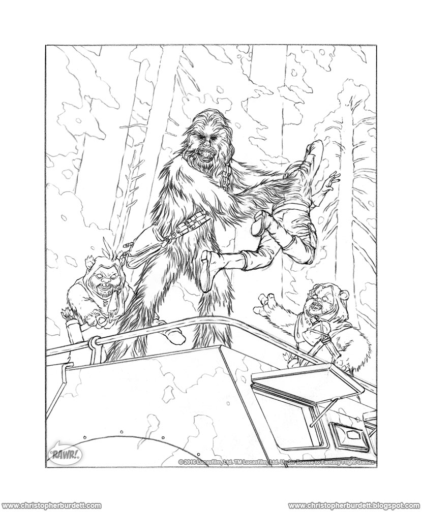 the doodles designs and art of christopher burdett chewbacca