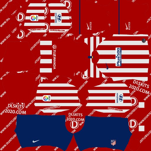 Atlético Madrid Kits 2019-2020 Home For Dls Kits 2020