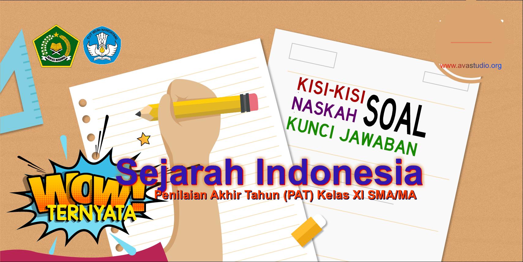 Kisi-Kisi, Naskah Soal dan Kunci PAT Sejarah Indonesia Kelas XI SMA/MA Kurikulum 2013