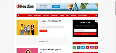 News Den Template Blogger 2020