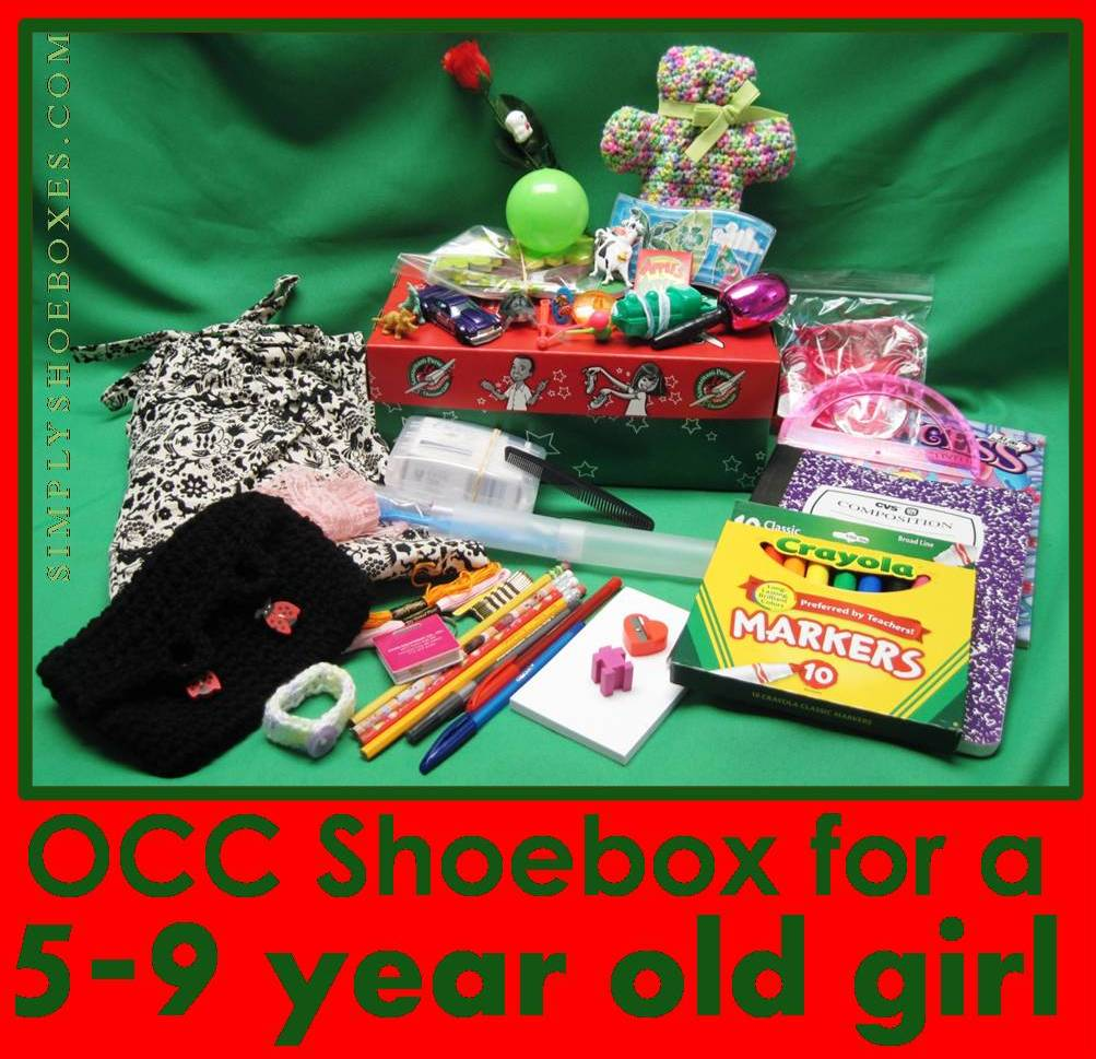 Simply Shoeboxes: Operation Christmas Child Shoebox for 5-9 Year Old ...