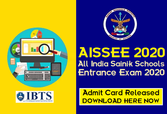 AISSEE 2020: Sainik Schools Entrance Exam Admit Card Released, Download Here