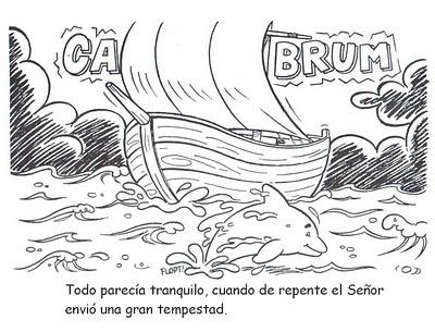 Historia bíblica de Jonás para colorear ~ RECURSOS PARA LA ESCUELA ...