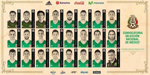 Convocatoria Selección Mexicana Copa América Centenario 2016 ... 7f56c67b7b1a6