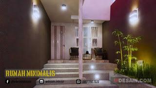 Desain Teras Rumah Minimalis Ukuran 4x10 Meter 2 Lantai