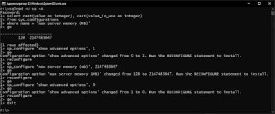 Изменение параметра 'max server memory (mb)'