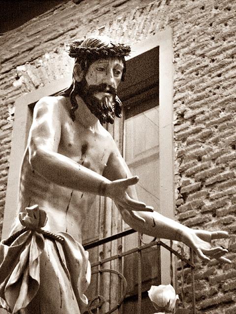 Cristo Nuestro Bien, imagen del paso del Expolio. Cofradía del Dulce Nombre de Jesús Nazareno. León. Foto G, Márquez