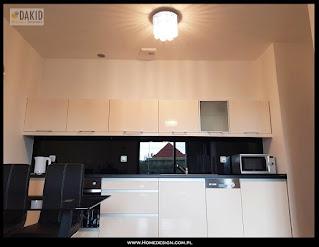 kuchnia jednorzędowa - czarno biała 4m