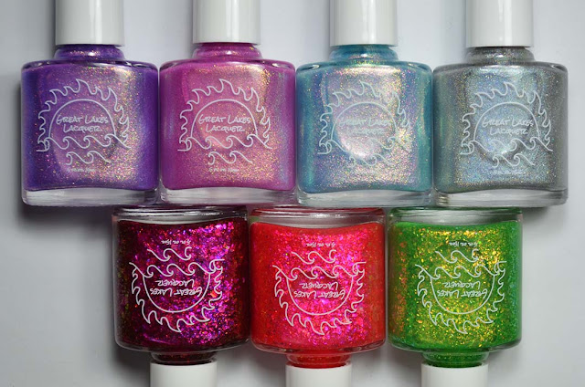 colorful nail polish in bottles