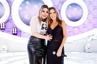 Naiara Azevedo e Patricia Abravanel.  Crédito:Divulgação/SBT