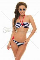 Costum De Baie Sensual Sailor White