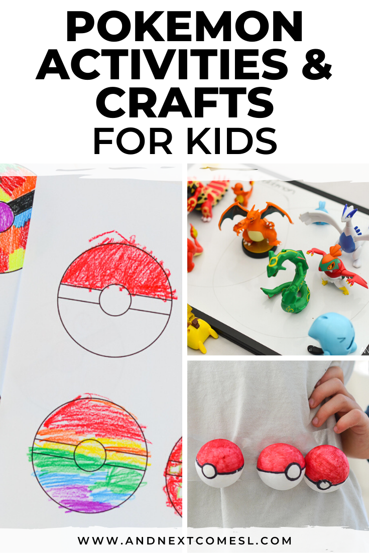 Pokemon activities for kids, including Pokemon crafts and free printables