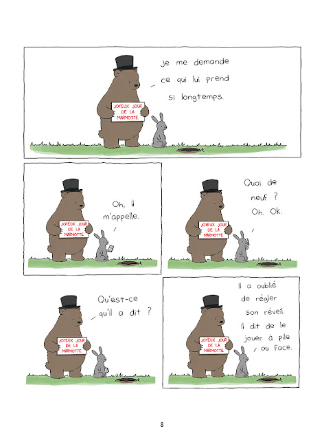 """page """"365 ours de Bonheur"""" de Liz Climo chez Delcourt"""
