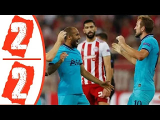 Olympiacos Vs Tottenham Hotspurs 2-2 All Goals And Match Highlights [MP4 & HD VIDEO]