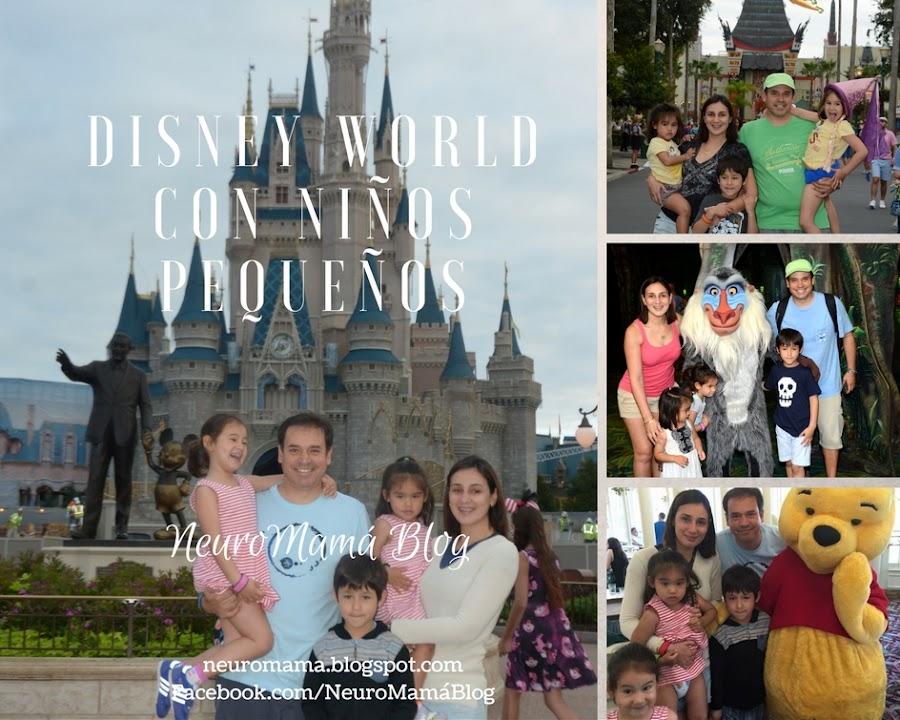 Disney World con niños pequeños collage de fotos