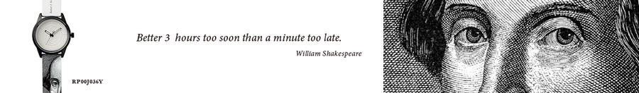 william shakespeare l ekologiczny l minimalistyczny zegarek l biały