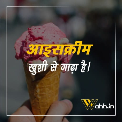 Ice Cream Quotes  In Hindi And English